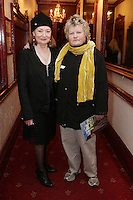 "NO REPRO FEE. 17/1/2010. The Field opening night. Joan Bergin and Brenda Fricker are pictured at the Olympia Theatre for the opening night of John B Keanes 'The Field"" Picture James Horan/Collins"