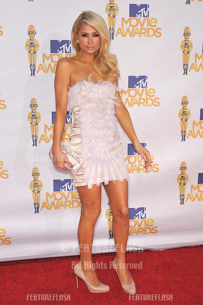 Paris Hilton at the 2010 MTV Movie Awards at the Gibson Amphitheatre, Universal Studios, Hollywood..June 6, 2010  Los Angeles, CA.Picture: Paul Smith / Featureflash