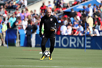 Cary, NC - Sunday October 22, 2017: Graeme Abel prior to an International friendly match between the Women's National teams of the United States (USA) and South Korea (KOR) at Sahlen's Stadium at WakeMed Soccer Park. The U.S. won the game 6-0.