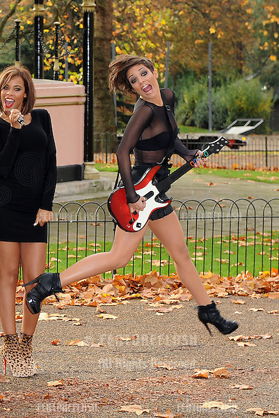 Frankie from The Saturdays pose at the Band Hero Photocall in Hyde Park,  London. 06/11/ 2009.Picture By: Gerry Copper / Featureflash..