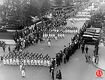 The National Guard marches in Waterbury's Memorial Day Parade, 1930.