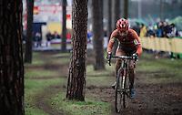 Lars Van der Haar (NLD/Giant-Alpecin)<br /> <br /> Men's Elite Race<br /> <br /> UCI 2016 cyclocross World Championships,<br /> Zolder, Belgium