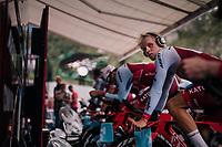 Mads W&uuml;rtz Schmidt (DEN/Katusha-Alpecin) warming up<br /> <br /> UCI MEN&lsquo;S TEAM TIME TRIAL<br /> Ötztal to Innsbruck: 62.8 km<br /> <br /> UCI 2018 Road World Championships<br /> Innsbruck - Tirol / Austria