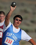 Jesse Fiegel, from Tahoe, competes in the shot put at the Special Olympics Nevada 2013 Summer Games in Reno, Nev., on Saturday, June 1, 2013. <br /> Photo by Cathleen Allison