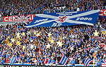 Rangers fans unveil a 52-star tribute to the world record 52 league wins before the kick off at Ibrox