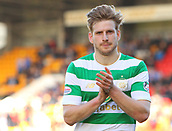 4th November 2017, McDiarmid Park, Perth, Scotland; Scottish Premiership football, St Johnstone versus Celtic; Stuart Armstrong applauds the fans