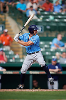 Tampa Bay Rays first baseman Kevin Padlo (88) at bat during a Grapefruit League Spring Training game against the Baltimore Orioles on March 1, 2019 at Ed Smith Stadium in Sarasota, Florida.  Rays defeated the Orioles 10-5.  (Mike Janes/Four Seam Images)