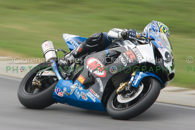 ALTON, VA - AUGUST 28: Geoff May during the Pro Honda Oils Supersport race at the Suzuki Big Kahuna Nationals, held at Virginia International Raceway, Alton, Virginia on August 28, 2005.