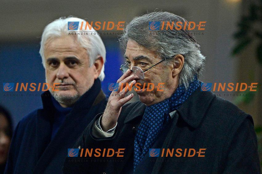 Massimo Moratti, Stefano Filucchi Inter<br /> Milano 09-02-2014 Stadio Giuseppe Meazza - Football 2013/2014 Serie A. Inter - Sassuolo Foto Giuseppe Celeste / Insidefoto