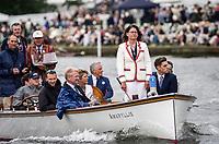 Henley Royal Regatta, Henley on Thames, Oxfordshire, 28 June - 2 July 2017.  Wednesday  15:28:25   28/06/2017  [Mandatory Credit/Intersport Images]<br /> <br /> Rowing, Henley Reach, Henley Royal Regatta.<br /> <br /> Miss G Batten, Umpire