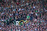 Stockholm 2013-06-23 Fotboll Superettan , Hammarby IF - &Auml;ngelholms FF :  <br /> Hammarby Bajen supporter fans publik supporters <br /> (Foto: Kenta J&ouml;nsson) Nyckelord: