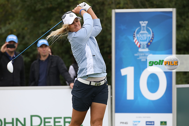 Anna Nordqvist (SWE) during Friday afternoon's Four-balls, at The Solheim Cup 2015 played at Golf Club St. Leon-Rot, Mannheim, Germany.  18/09/2015. Picture: Golffile | David Lloyd<br /> <br /> All photos usage must carry mandatory copyright credit (&copy; Golffile | David Lloyd)