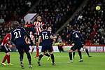 David McGoldrick of Sheffield United heads the ball at goal during the Premier League match at Bramall Lane, Sheffield. Picture date: 10th January 2020. Picture credit should read: James Wilson/Sportimage