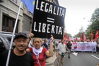 - Milan, general strike called by CGIL trade union against the government's budget package<br /> <br /> - Milano, sciopero generale indetto dal sindacato CGIL contro la manovra finanziaria del Governo