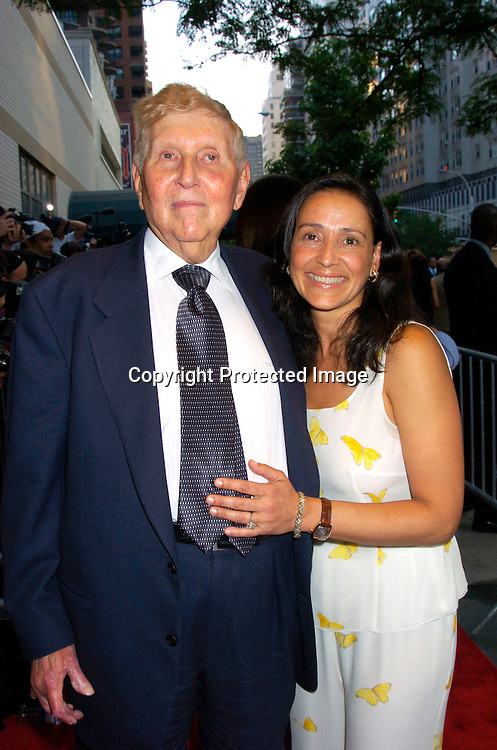 "Sumner Redstone and wife Paula..at the World Premiere of ""The Manchurian Candidate"" ..on July 19, 2004 at the Clearview Cinema's Beekman ..Theatre. Photo by Robin Platzer, Twin Images"