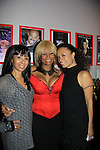 """Atonia poses with her sister One Life To Live Valarie Pettiford """"Sheila Price"""" and Another World """"Det. Courtney Walker"""" & All My Children Tonya Pinkins """"Livia Frye Cudahy"""" and also As The World Turns """"Heather Dalton"""" perform (sing) as a part of Jamie deRoy & friends.  (Photo by Sue Coflin/Max Photos)"""