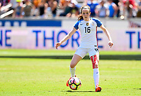 Houston, TX - April 9, 2017: The U.S. Women's national team go up 3-0 over Russia with Rose Lavelle contributing goals in an international friendly match at BBVA Compass Stadium.