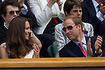 Mcc0032212 . Daily Telegraph..The Duke and Duchess of Cambridge watch Andrew Murray on centre Court at Wimbledon..The seventh day of The Lawn Tennis Championships at Wimbledon..27 June 2011 Wimbledon