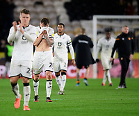 Swansea City's Ben Wilmot, centre, at the end of the game<br /> <br /> Photographer Chris Vaughan/CameraSport<br /> <br /> The EFL Sky Bet Championship - Hull City v Swansea City -  Friday 14th February 2020 - KCOM Stadium - Hull<br /> <br /> World Copyright © 2020 CameraSport. All rights reserved. 43 Linden Ave. Countesthorpe. Leicester. England. LE8 5PG - Tel: +44 (0) 116 277 4147 - admin@camerasport.com - www.camerasport.com