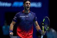 15th November 2019; 02 Arena. London, England; Nitto ATP Tennis Finals; Robert Farah (COL) celebrates as they  win the first set in his doubles  match against Kevin Krawietz (GER) and Andreas Mies (GER) - Editorial Use