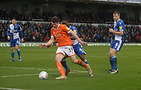 Blackpool's Matty Virtue shields the ball from Bristol Rovers' Abu Ogogo<br /> <br /> Photographer Ian Cook/CameraSport<br /> <br /> The EFL Sky Bet League One - Bristol Rovers v Blackpool - Saturday 15th February 2020 - Memorial Stadium - Bristol<br /> <br /> World Copyright © 2020 CameraSport. All rights reserved. 43 Linden Ave. Countesthorpe. Leicester. England. LE8 5PG - Tel: +44 (0) 116 277 4147 - admin@camerasport.com - www.camerasport.com