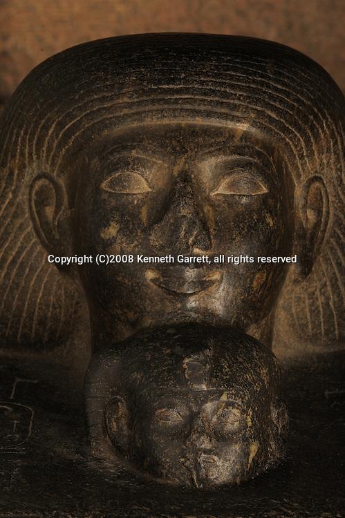 Hatshepsut, Egypt, Egyptian Museum, Hatshepsut red granite usurped by Thutmosis III, Senenmut with Neferrure Black granite block statue, Osiris statue face of Hatshepsut