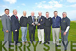 SCRATCH CUP: On Friday morning at Tralee Golf Club, The Capt Tralee Golf Club Joe McCarthy and Frank Hayes (sponsors Kerry Group PLC) announced details of the forth coming Scratch Cup at the announcement l-r: Alan Kelly (Vice Captain), Paul Stephenson, David Power (professiona golfer) Frank Hayes (KG PLC), Joe McCarthy (captaion),  Richard Raftery, Graham Spring and Michael Coote.