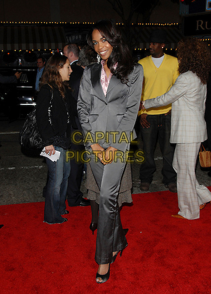 "MICHELLE WILLIAMS.The Columbia Pictures' World Premiere of ""Stranger than Fiction"" held at The Mann Village Theatre in Westwood, California on October 30, 2006.Copyright 2006 Debbie VanStory.Ref: DVS.full length grey gray suit trousers jacket.www.capitalpictures.com.sales@capitalpictures.com.©Debbie VanStory/Capital Pictures"