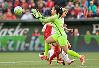 Portland, Oregon - Sunday October 2, 2016: Western New York Flash goalkeeper Sabrina D'Angelo (1) during a semi final match of the National Women's Soccer League (NWSL) at Providence Park.
