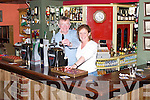 Pat and Joan Herbert at their Bar in Kilflynn..