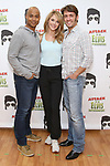 Curtis Wiley, Ashley Spencer and Eric Sciotto during the Press preview for 'Attack of the Elvis Impersonators'  at Shelter Studios on May 22, 2017 in New York City.