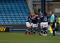 GOAL - Lee Gregory of Millwall is mobbed after scoring his goal during the Sky Bet Championship match between Millwall and Sheff United at The Den, London, England on 2 December 2017. Photo by Carlton Myrie / PRiME Media Images.