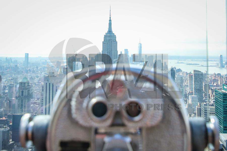 NOVA YORK, EUA, 30.09.2019 -TURISMO-EUA - Vista do Empire State Building a partir do observatorio Top Of The Rock nailha de Manhattan em Nova York . (Foto: Vanessa Carvalho/Brazil Photo Press)