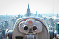 NOVA YORK, EUA, 30.09.2019 -TURISMO-EUA - Vista do Empire State Building a partir do observatorio Top Of The Rock nailha de Manhattan em Nova York . (Foto: Vanessa Carvalho/Brazil Photo Press)