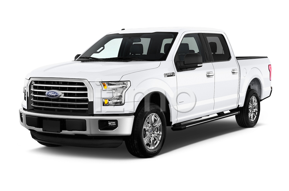 2015 Ford F 150 Xlt 4X2 Ecoboost 5 Door Trucks angular front stock photos of front three quarter view