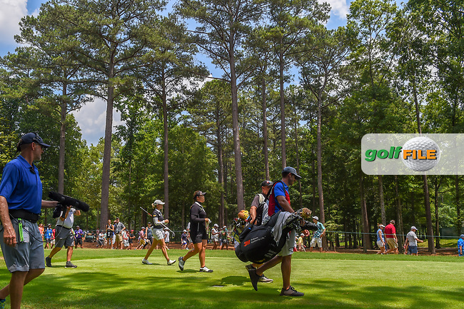 Sarah Jane Smith (AUS) and Ariya Jutanugarn (THA) head down 3 during round 4 of the U.S. Women's Open Championship, Shoal Creek Country Club, at Birmingham, Alabama, USA. 6/3/2018.<br /> Picture: Golffile | Ken Murray<br /> <br /> All photo usage must carry mandatory copyright credit (© Golffile | Ken Murray)