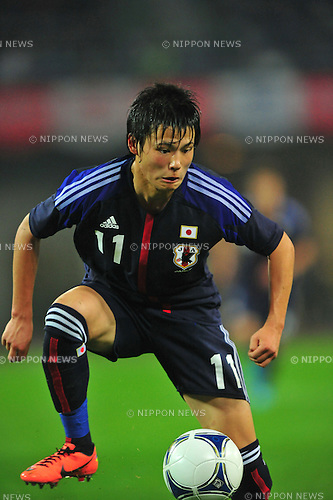 Ryo Miyaichi (JPN),.MAY 23, 2012 - Football / Soccer : Ryo Miyaichi of Japan in action during the Kirin Challenge Cup 2012 (international friendly match) between Japan 2-0 Azerbaijan .at Shizuoka Stadium Ecopa in Shizuoka, Japan. .(Photo by AFLO) .