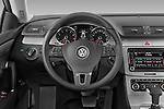Steering wheel view of a 2009 volkswagen cc luxary