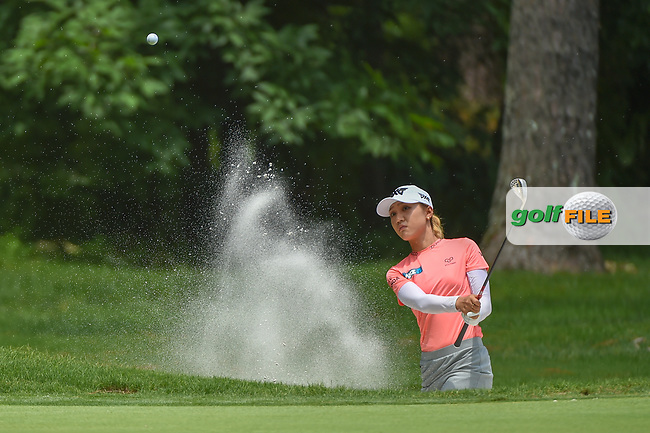 Lydia Ko (NZL) hits from the trap on 1 during round 1 of the U.S. Women's Open Championship, Shoal Creek Country Club, at Birmingham, Alabama, USA. 5/31/2018.<br /> Picture: Golffile | Ken Murray<br /> <br /> All photo usage must carry mandatory copyright credit (© Golffile | Ken Murray)