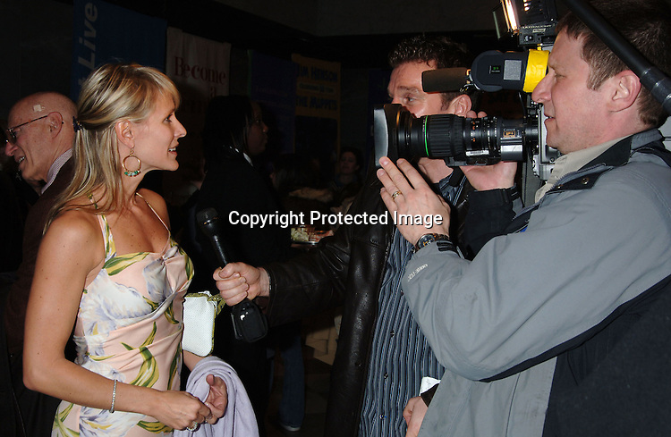 "Kelley Menighan Hensley and a TV Crew..at The 50th  Anniversary Party of ""As The World Turns""..on March 23, 2006 at The Museum of TV and Radio...Robin Platzer, Twin Images"