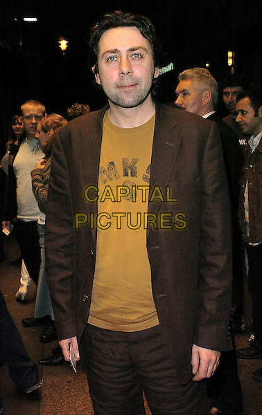 SEAN HUGHES.The Times BFI London Film Festival: Keane - special screening at Odeon West End, London, WC2, London..October 30th, 2005.Ref: CAN.half length brown suit jacket.www.capitalpictures.com.sales@capitalpictures.com.©Capital Pictures