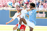 14 December 2008: Maryland's Jason Herrick (9) and UNC's Ryan Adeleye (13). The University of Maryland Terrapins defeated the University of North Carolina Tar Heels 1-0 at Pizza Hut Park in Frisco, TX in the championship game of the 2008 NCAA Division I Men's College Cup.