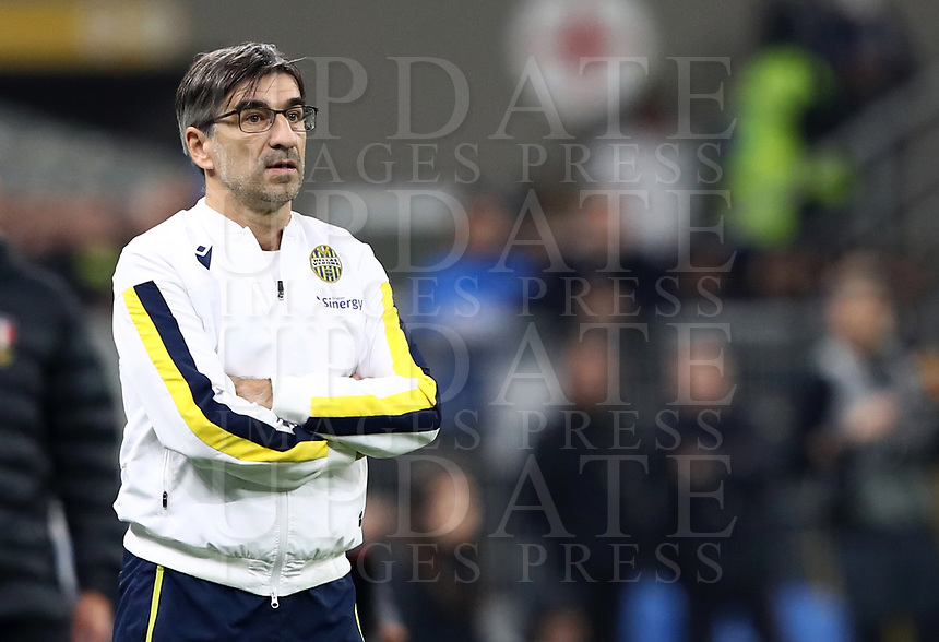Calcio, Serie A: Inter Milano - Hellas Verona, Giuseppe Meazza stadium, November 9, 2019.<br /> Hellas Verona's coach Ivan Juric looks on during the Italian Serie A football match between Inter and Hellas Verona at Giuseppe Meazza (San Siro) stadium, on November 9, 2019.<br /> UPDATE IMAGES PRESS/Isabella Bonotto