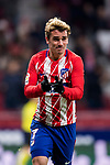 Antoine Griezmann of Atletico de Madrid celebrates his third goal during the La Liga 2017-18 match between Atletico de Madrid and CD Leganes at Wanda Metropolitano on February 28 2018 in Madrid, Spain. Photo by Diego Souto / Power Sport Images