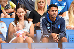 11.08.2018, Wirsol-Rhein-Neckar-Arena, Sinsheim, GER, Testspiel, TSG 1899 Hoffenheim vs SD Eibar, <br /> <br /> DFL REGULATIONS PROHIBIT ANY USE OF PHOTOGRAPHS AS IMAGE SEQUENCES AND/OR QUASI-VIDEO.<br /> <br /> im Bild: Leonardo Bittencourt (TSG 1899 Hoffenheim #13) und Frau Saskia <br /> <br /> Foto &copy; nordphoto / Fabisch