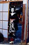 Kyoto, Japan..An aging photo of Mineko Iwasaki when she was a young and famous geisha in Kyoto's Gion District...All photographs ©2003 Stuart Isett.All rights reserved.