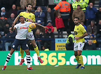 Blackburn Rovers' Charlie Mulgrew, Preston North End's Lukas Nmecha and Blackburn Rovers' Derrick Williams<br /> <br /> Photographer Rachel Holborn/CameraSport<br /> <br /> The EFL Sky Bet Championship - Preston North End v Blackburn Rovers - Saturday 24th November 2018 - Deepdale Stadium - Preston<br /> <br /> World Copyright © 2018 CameraSport. All rights reserved. 43 Linden Ave. Countesthorpe. Leicester. England. LE8 5PG - Tel: +44 (0) 116 277 4147 - admin@camerasport.com - www.camerasport.com
