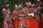 Samburu Dancers, Samburu, Kenya