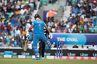 KL Rahul (India) kicks the ball away after he has played on to Trent Boult during India vs New Zealand, ICC World Cup Warm-Up Match Cricket at the Kia Oval on 25th May 2019