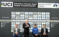 Picture by Simon Wilkinson/SWpix.com 22/03/2018 - Cycling 2018 UCI  Para-Cycling Track Cycling World Championships. Rio de Janeiro, Brazil - Barra Olympic Park Velodrome - Day 1- Opening ceremony